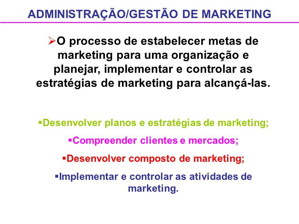ADMINISTRAÇÃO/GESTÃO DE MARKETING