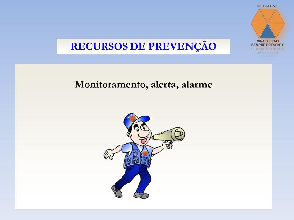 Monitoramento, alerta, alarme