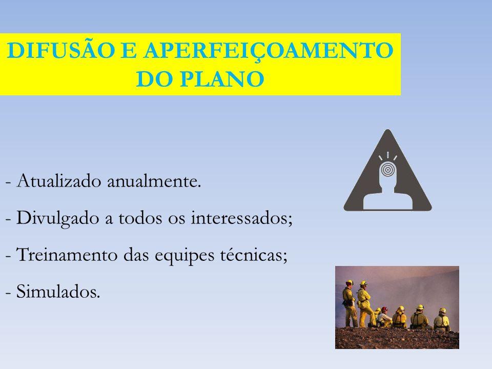 DIFUSÃO E APERFEIÇOAMENTO DO PLANO