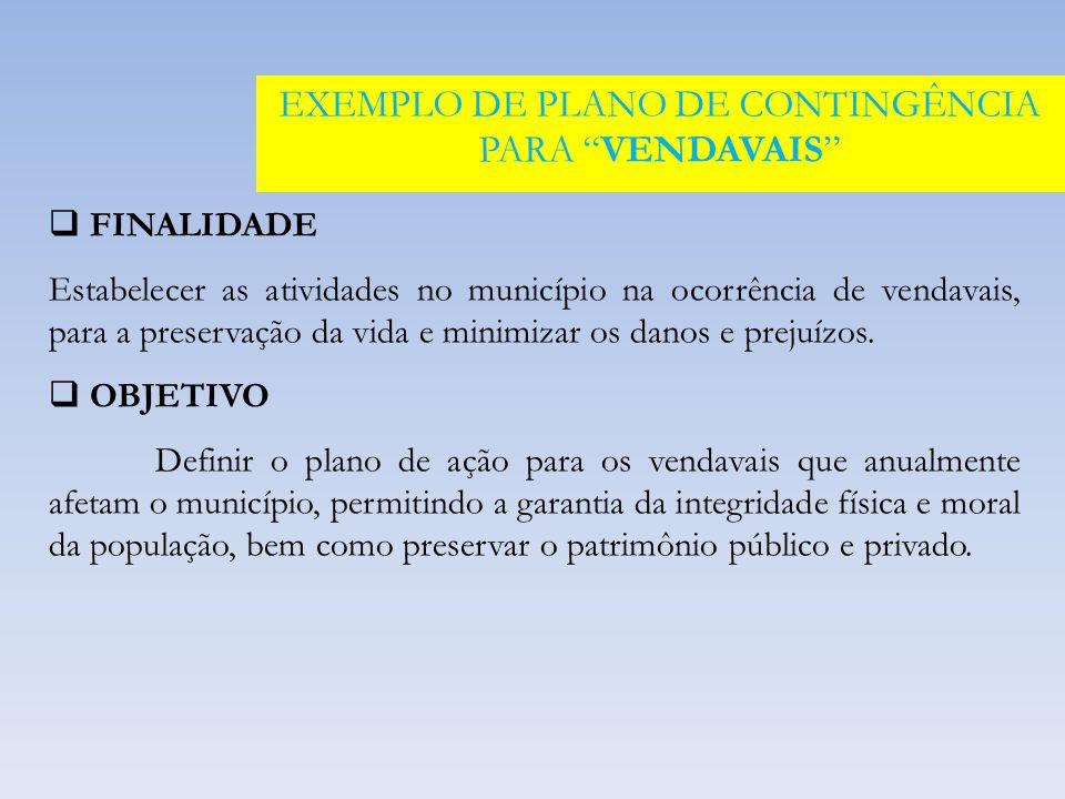 EXEMPLO DE PLANO DE CONTINGÊNCIA PARA VENDAVAIS