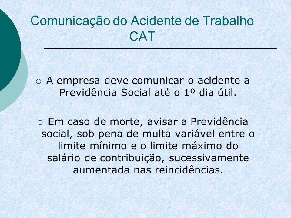 Comunicação do Acidente de Trabalho CAT