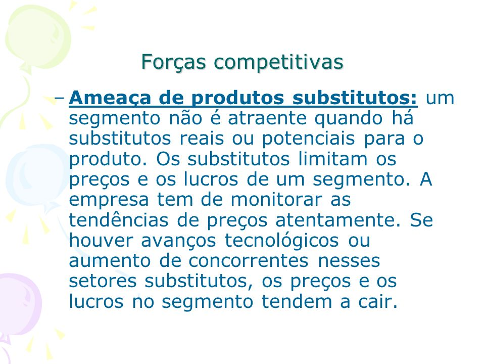Forças competitivas