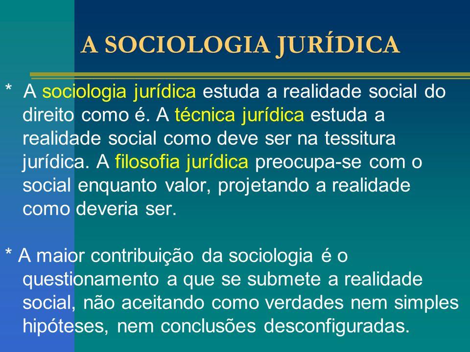 A SOCIOLOGIA JURÍDICA