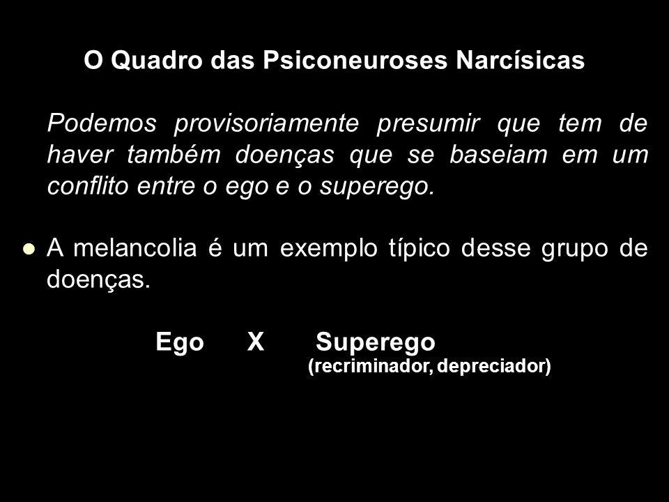O Quadro das Psiconeuroses Narcísicas