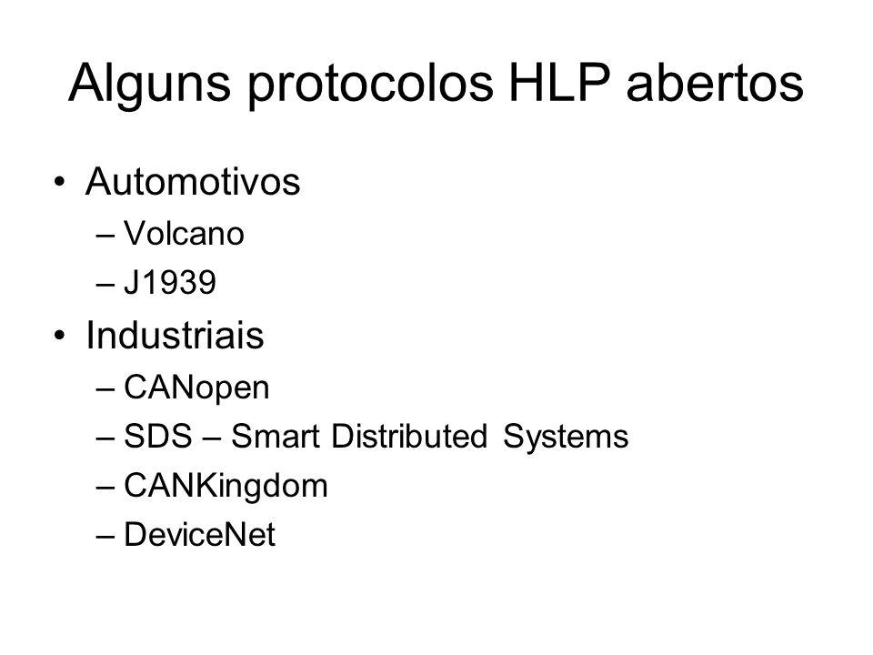 Alguns protocolos HLP abertos