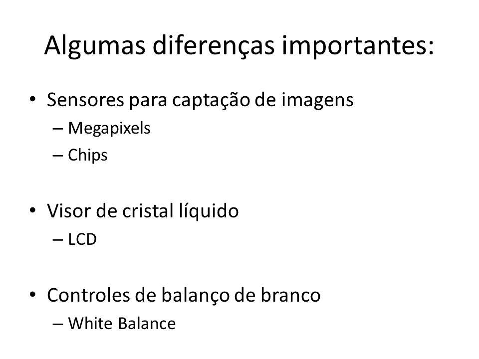Algumas diferenças importantes:
