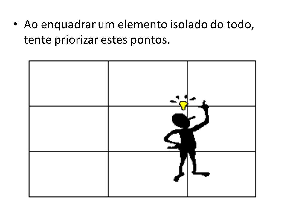 Ao enquadrar um elemento isolado do todo, tente priorizar estes pontos.