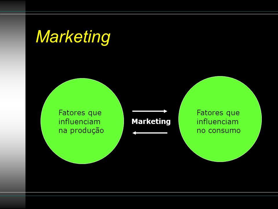 Marketing Fatores que influenciam na produção