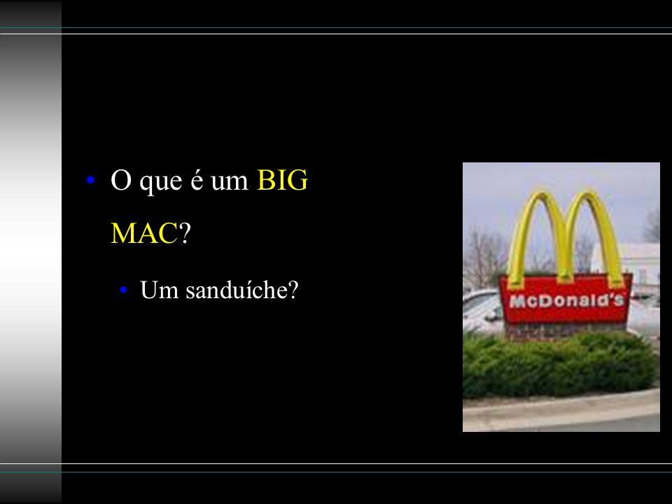 O que é um BIG MAC Um sanduíche