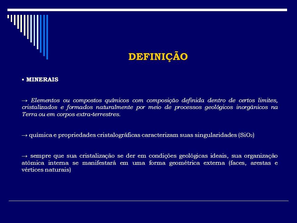 DEFINIÇÃO MINERAIS.