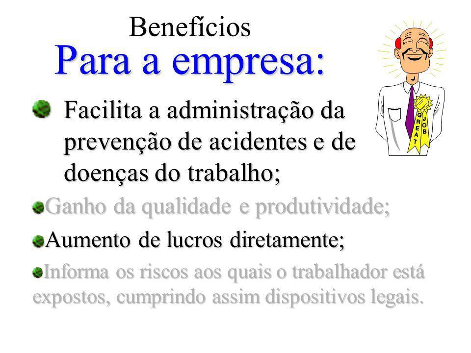 Benefícios Para a empresa: