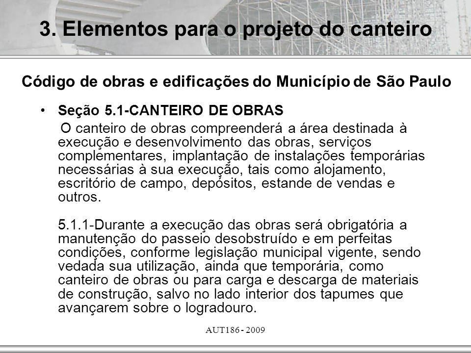 3. Elementos para o projeto do canteiro