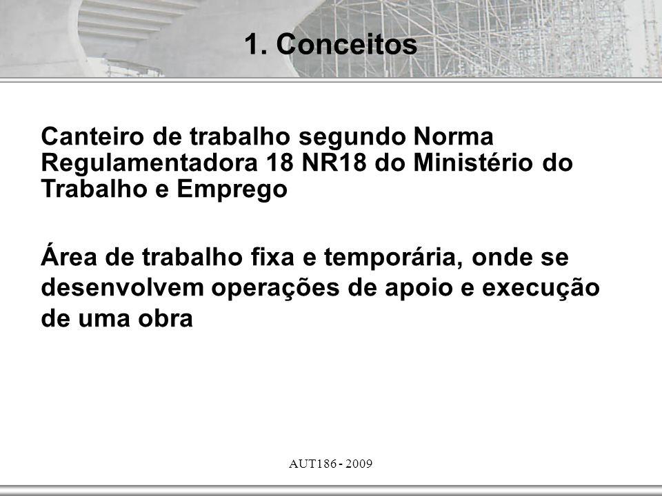 1. Conceitos Canteiro de trabalho segundo Norma Regulamentadora 18 NR18 do Ministério do Trabalho e Emprego.