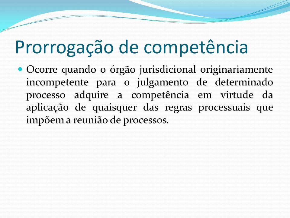 Prorrogação de competência