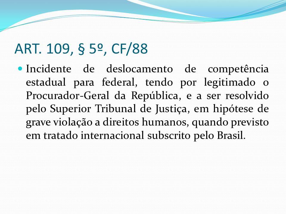 ART. 109, § 5º, CF/88