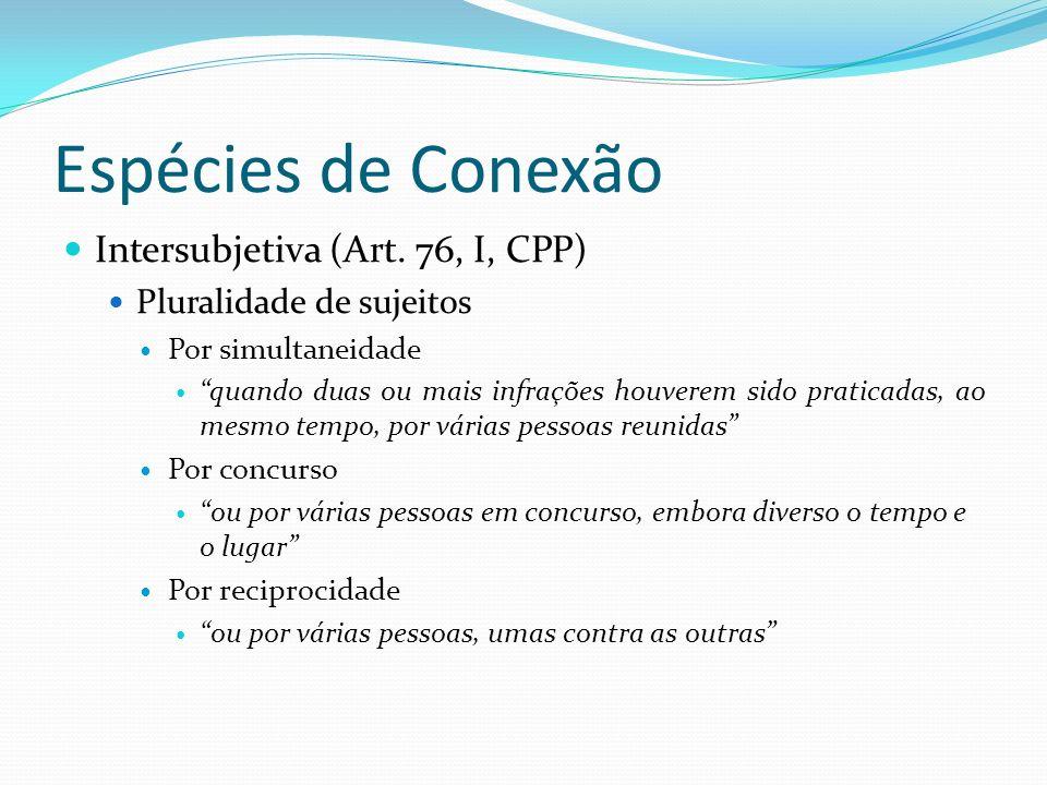 Espécies de Conexão Intersubjetiva (Art. 76, I, CPP)