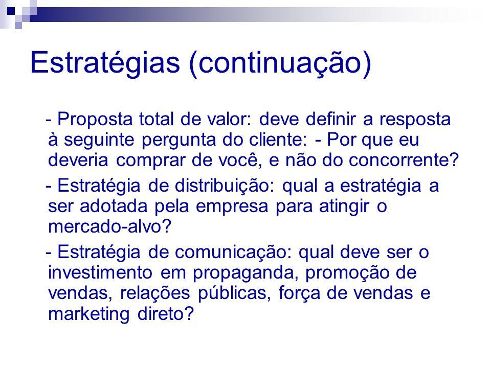 Estratégias (continuação)