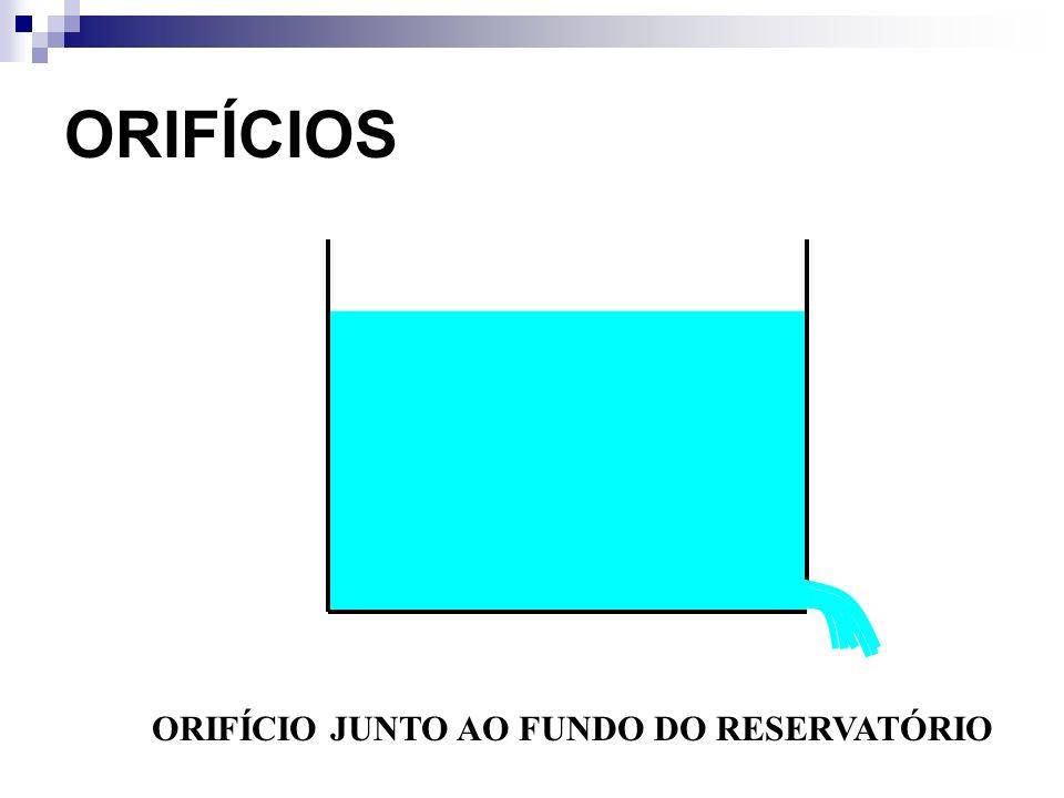 ORIFÍCIO JUNTO AO FUNDO DO RESERVATÓRIO