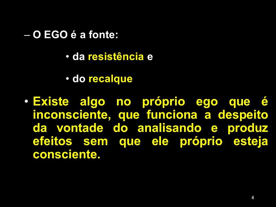 18/03/13 18/03/13. O EGO é a fonte: da resistência e. do recalque.