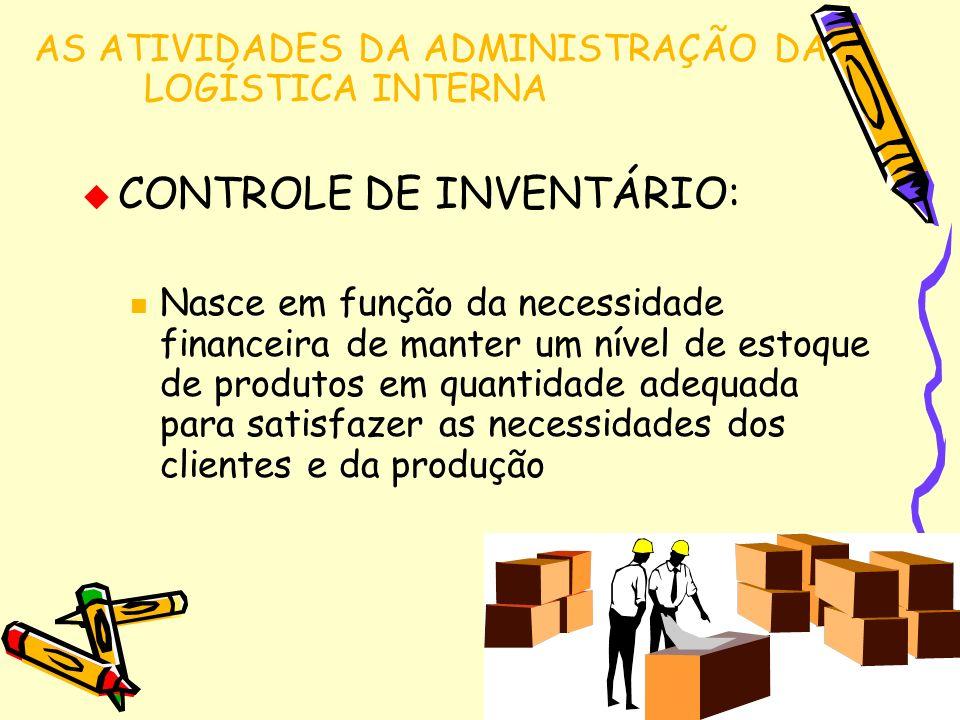 CONTROLE DE INVENTÁRIO: