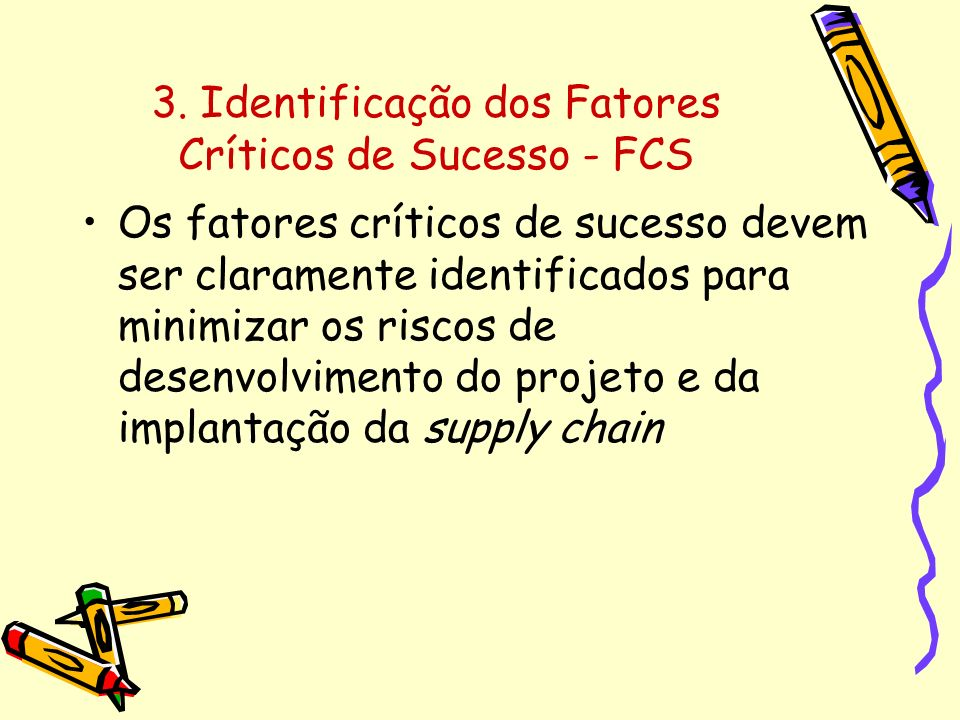3. Identificação dos Fatores Críticos de Sucesso - FCS