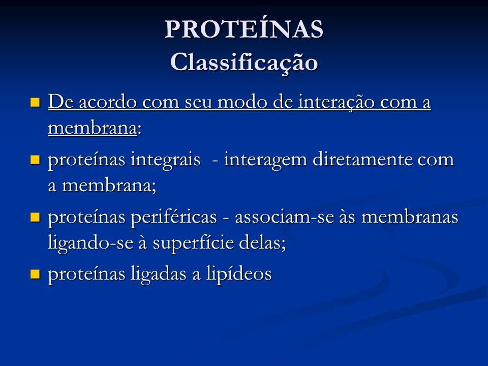 PROTEÍNAS Classificação