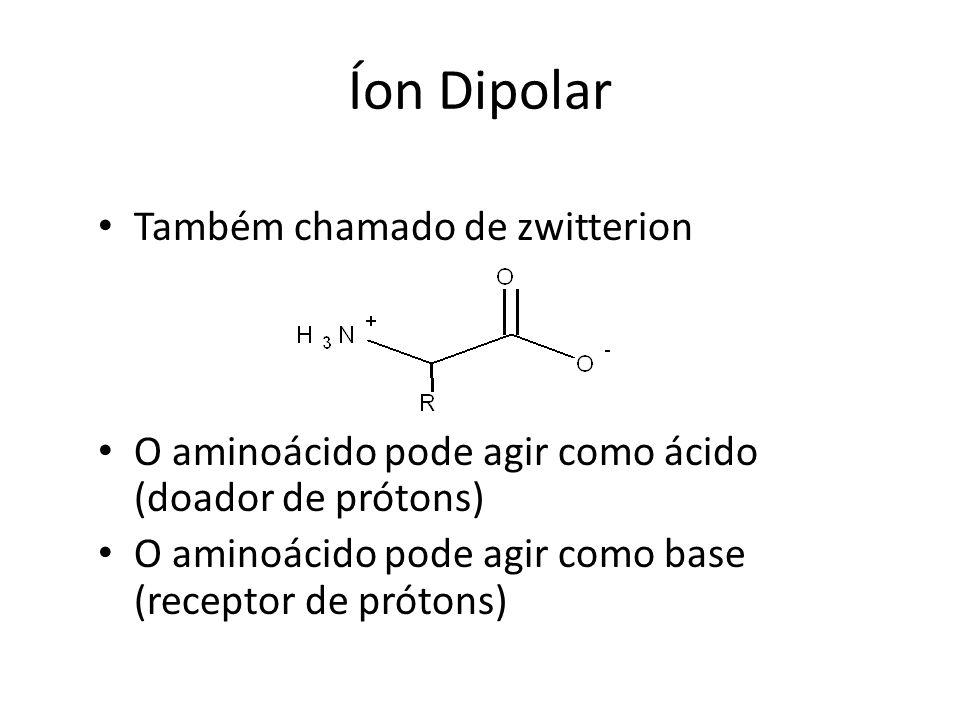Íon Dipolar Também chamado de zwitterion