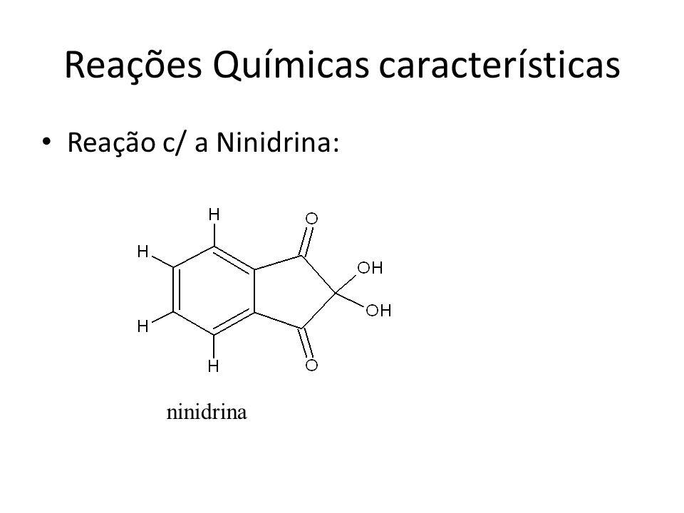 Reações Químicas características
