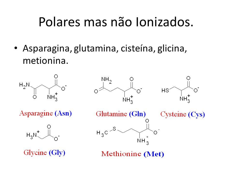Polares mas não Ionizados.