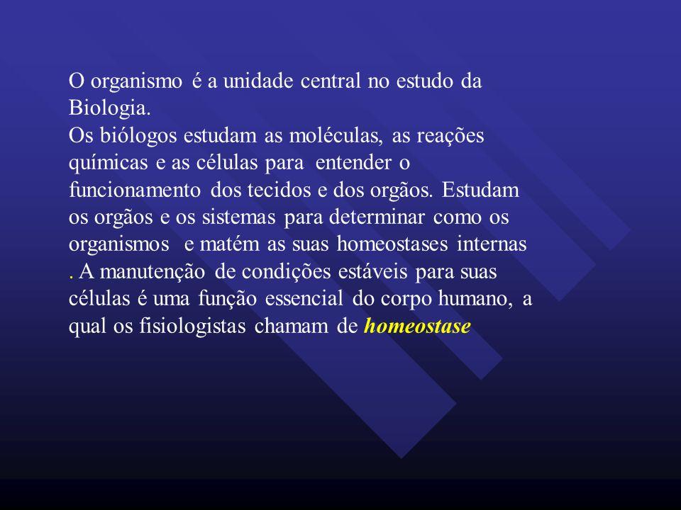 O organismo é a unidade central no estudo da Biologia.