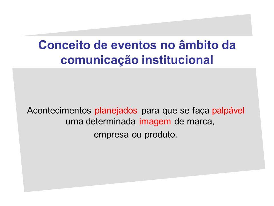Conceito de eventos no âmbito da comunicação institucional