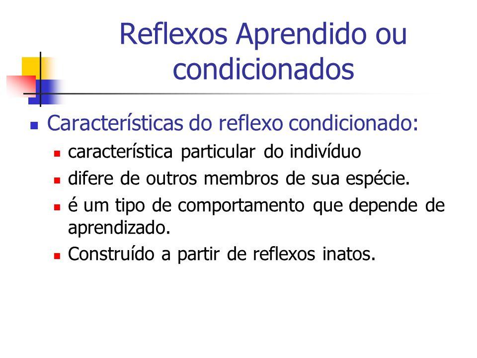 Reflexos Aprendido ou condicionados