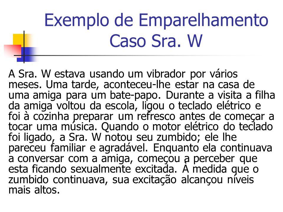 Exemplo de Emparelhamento Caso Sra. W