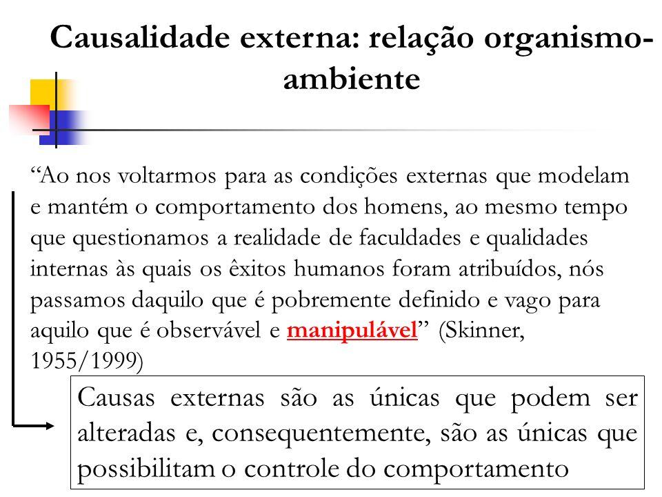 Causalidade externa: relação organismo-ambiente