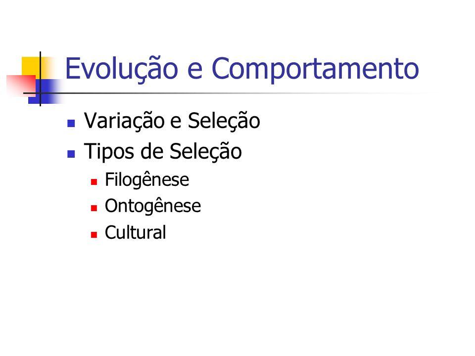 Evolução e Comportamento