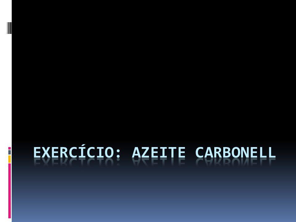 Exercício: Azeite Carbonell