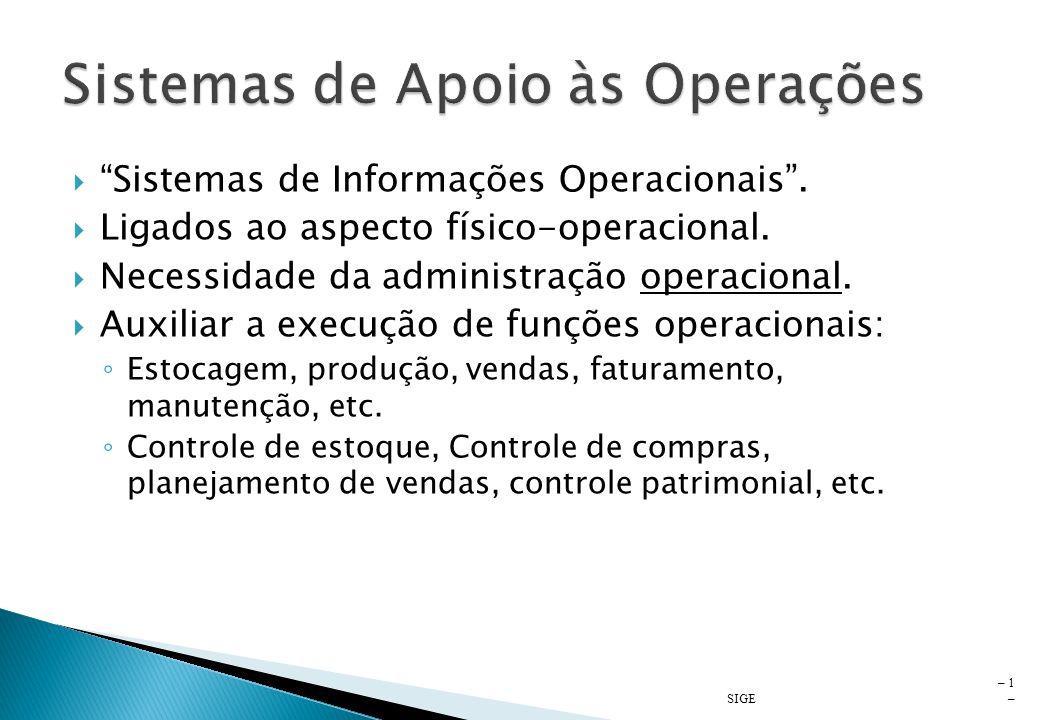 Sistemas de Apoio às Operações