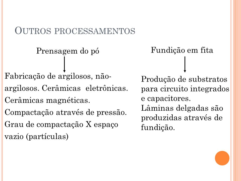Outros processamentos