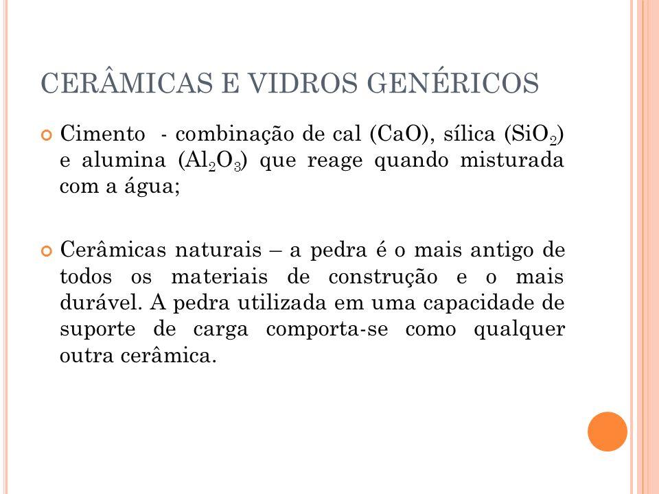 CERÂMICAS E VIDROS GENÉRICOS