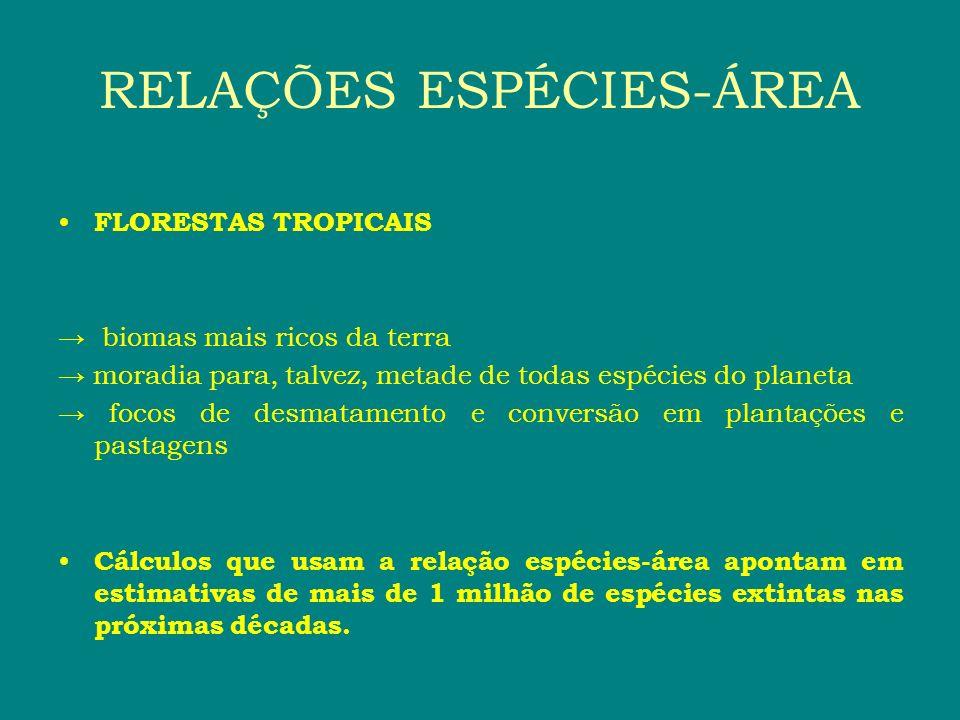 RELAÇÕES ESPÉCIES-ÁREA