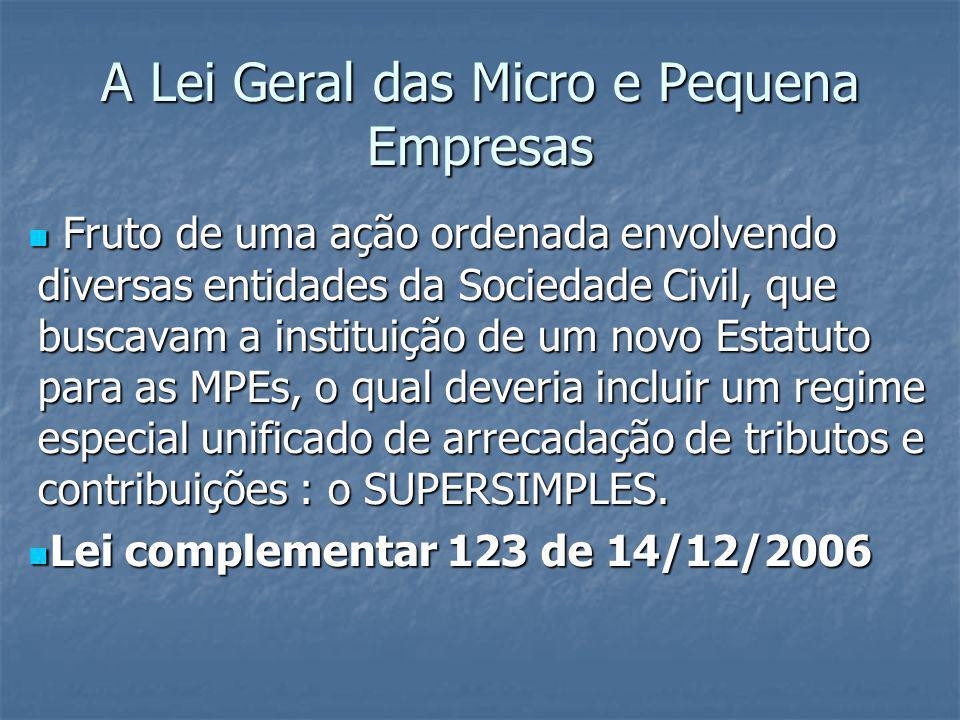 A Lei Geral das Micro e Pequena Empresas