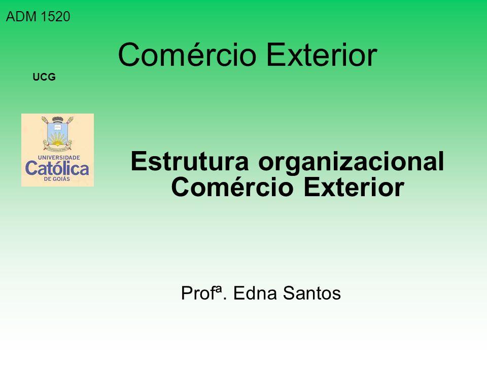 Estrutura organizacional Comércio Exterior