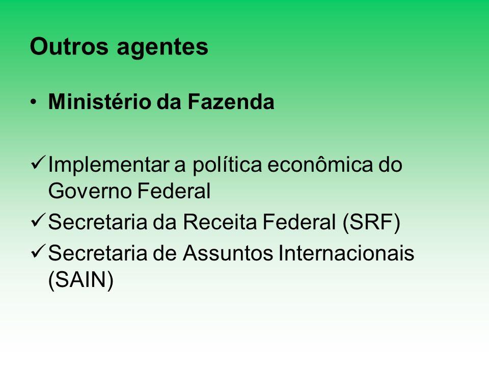 Outros agentes Ministério da Fazenda