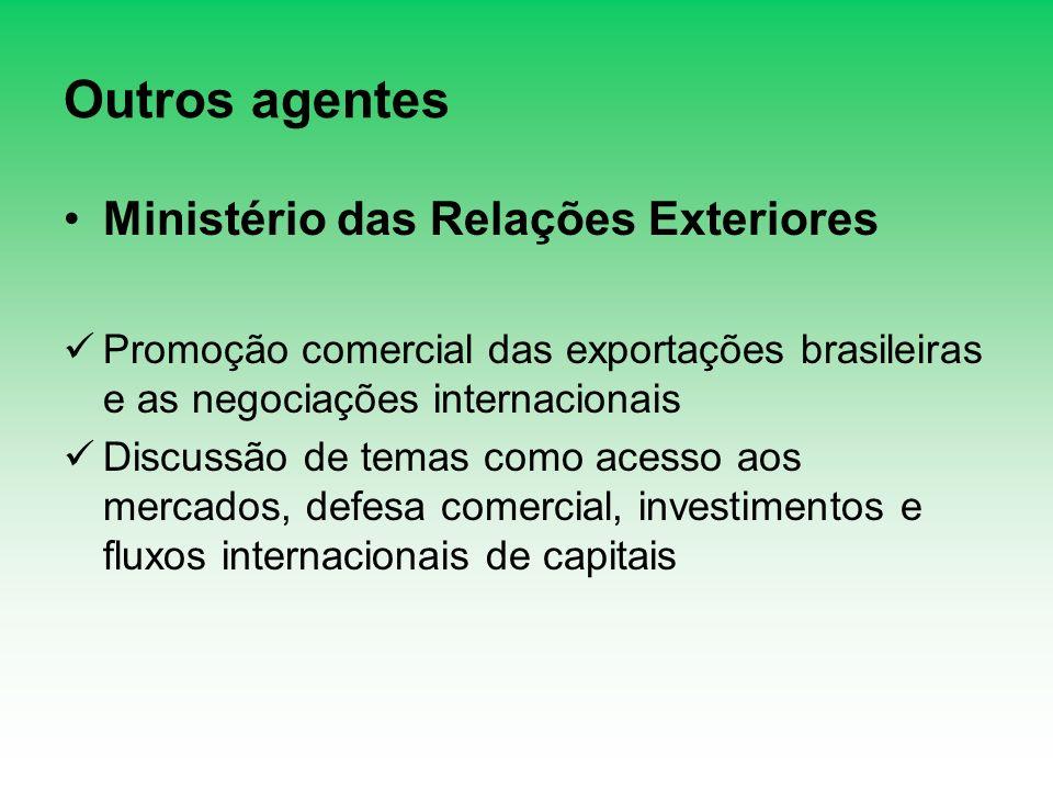Outros agentes Ministério das Relações Exteriores