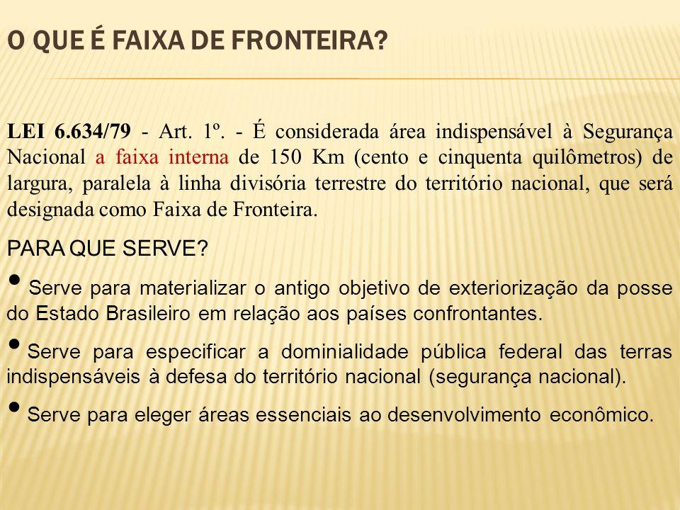 O QUE É FAIXA DE FRONTEIRA