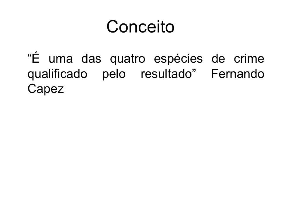 Conceito É uma das quatro espécies de crime qualificado pelo resultado Fernando Capez