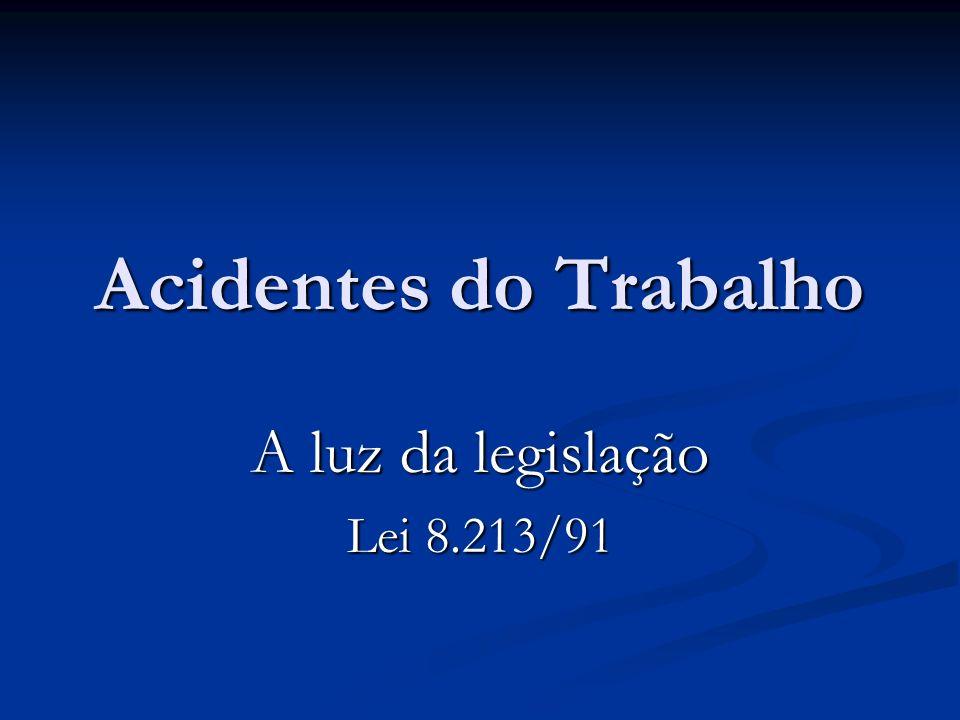 A luz da legislação Lei 8.213/91