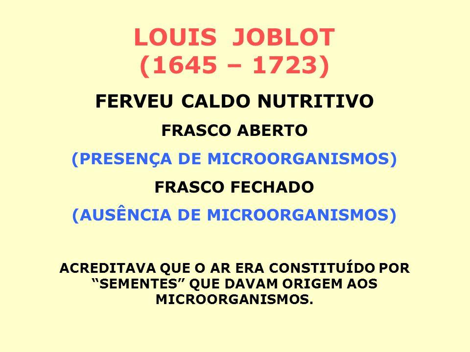 LOUIS JOBLOT (1645 – 1723) FERVEU CALDO NUTRITIVO FRASCO ABERTO