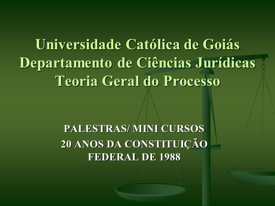PALESTRAS/ MINI CURSOS 20 ANOS DA CONSTITUIÇÃO FEDERAL DE 1988