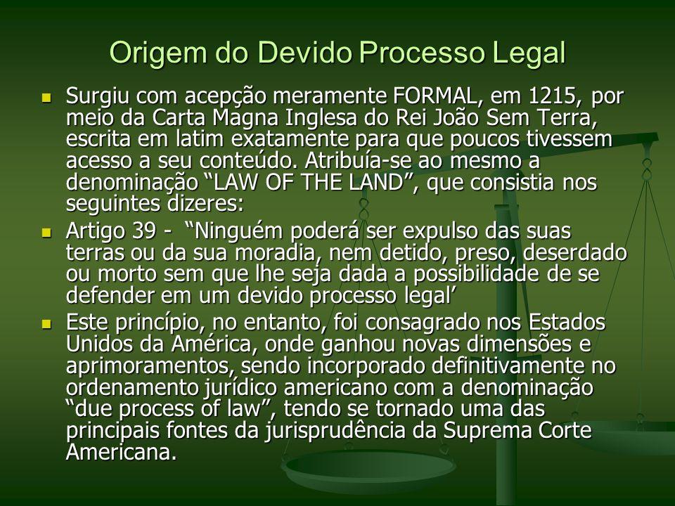 Origem do Devido Processo Legal